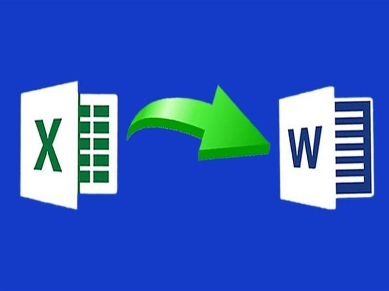 Cách sao chép dữ liệu từ Excel sang Word thần tốc